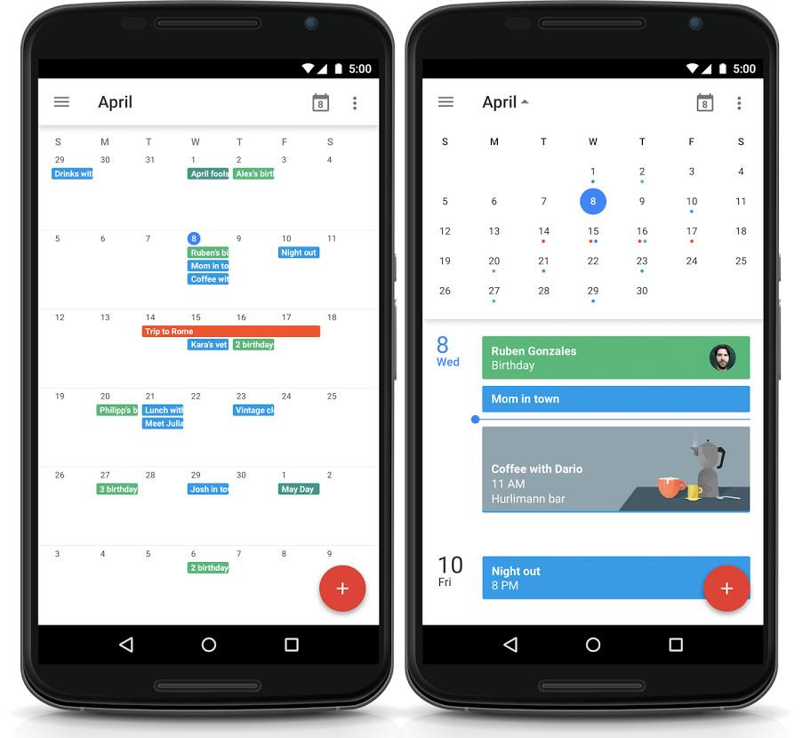 Google Maand maandweergave