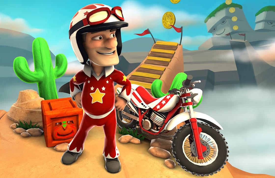 Joe Danger: toffe arcadegame nu ook voor Android