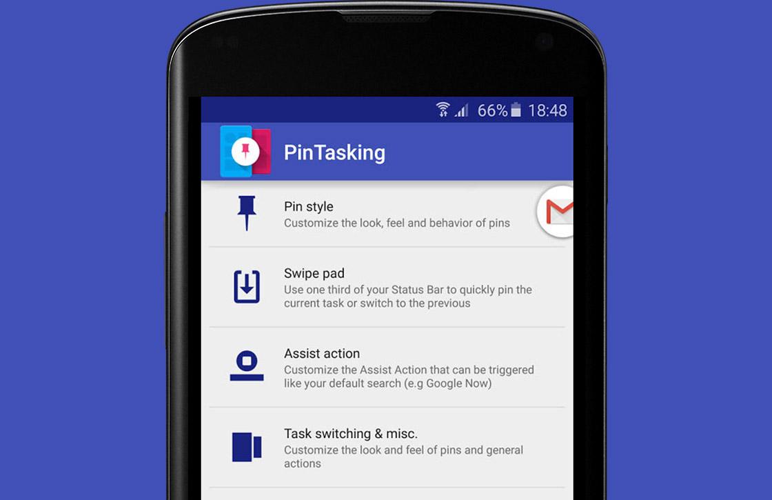 PinTasking maakt multitasken op je Android makkelijker
