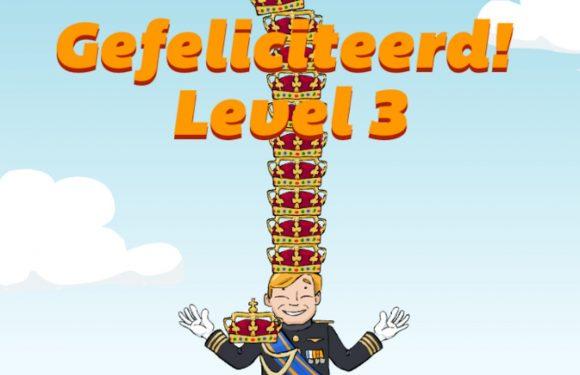 Vier Koningsdag met geinige game Kroning van de Koning