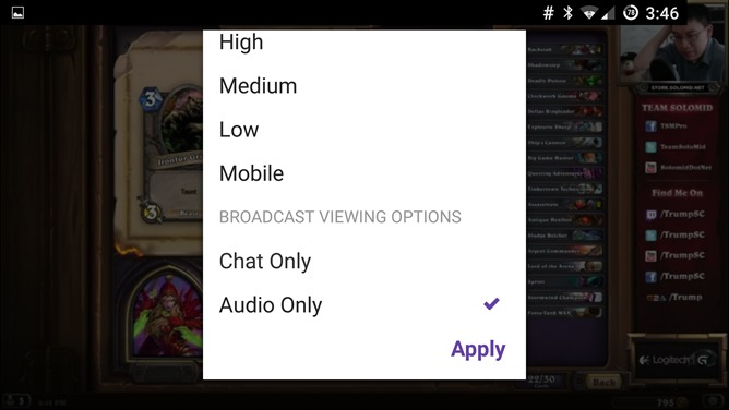 twitch-audio-only