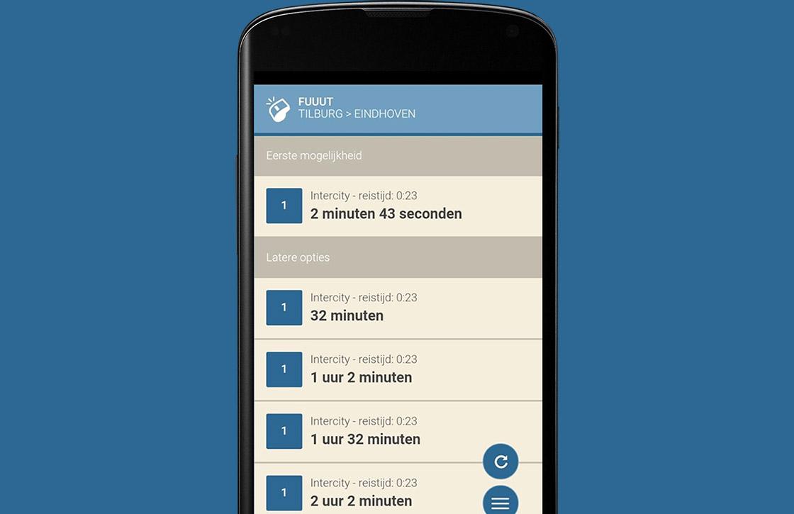 Fuuut is een minimalistische ov-app voor je Android