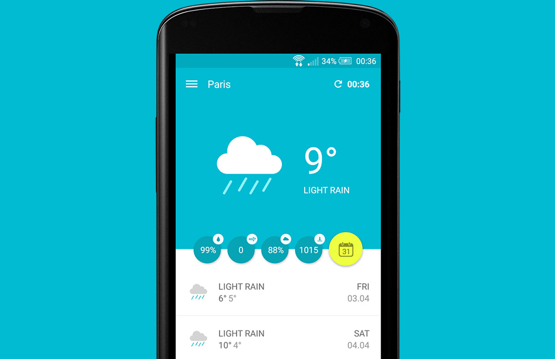 Wemple Weather is de mooiste weer-app voor je Android
