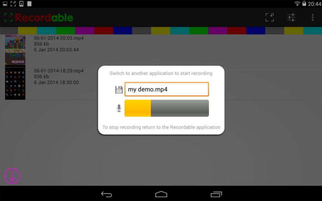 androidscherm opnemen