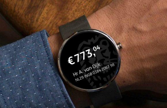 Saldo ING-rekening nu ook op smartwatch te zien