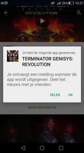 Google Play vooraf registeren