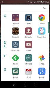 Android M appdrawer installeren