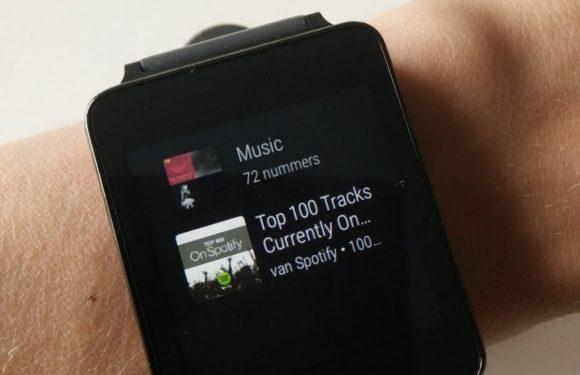 Spotify voegt Android Wear-ondersteuning toe aan app