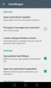 app-iconen op het homescreen