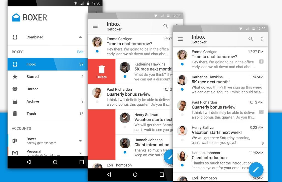 Fijne e-mail-app Boxer krijgt Material Design