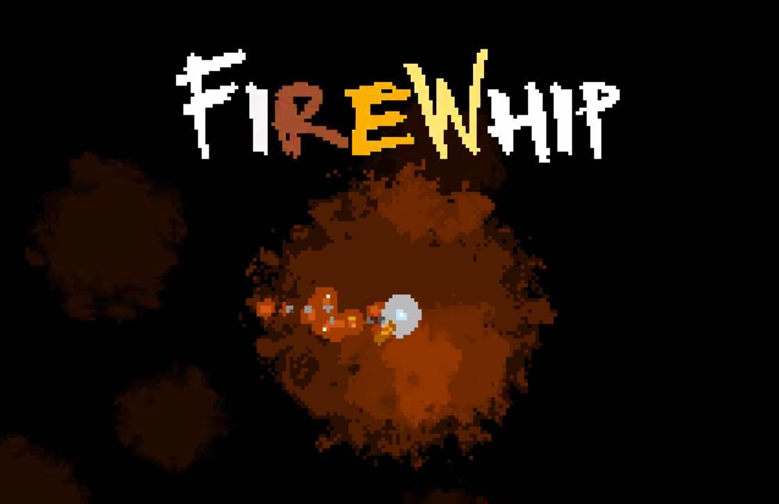 In FireWhip maak je vijanden af met een vuurzweep van pixels