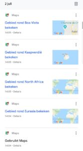 google maps zoekgeschiedenis