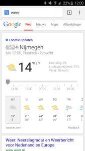 google weersvoorspelling