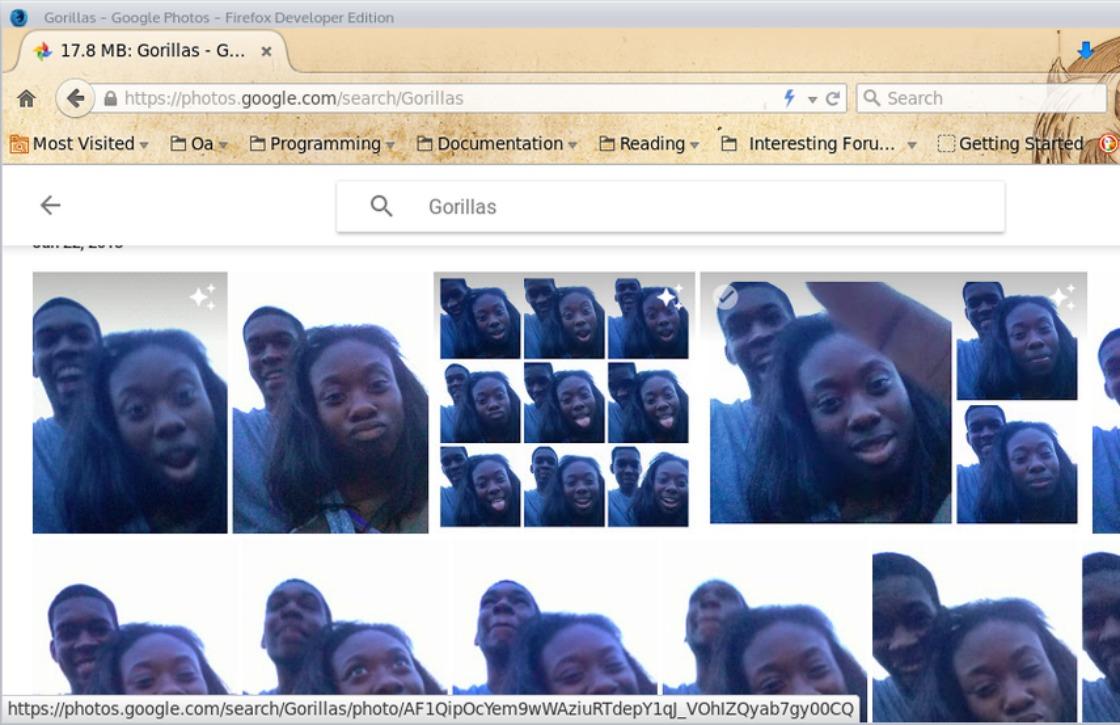 'Google Foto's ziet donkere mensen aan voor gorilla's'