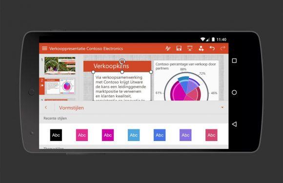 Microsoft Office voor Android nu ook op smartphones te gebruiken