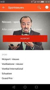 Startpagina Android