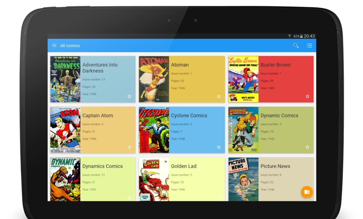 Lees comics in Material Design met Material Comic Viewer