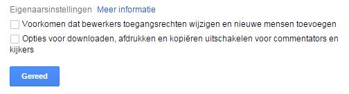 Google Drive deelopties