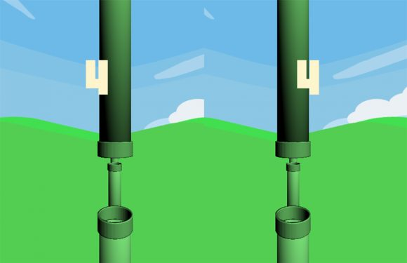 In deze game speel je Flappy Bird in virtual reality