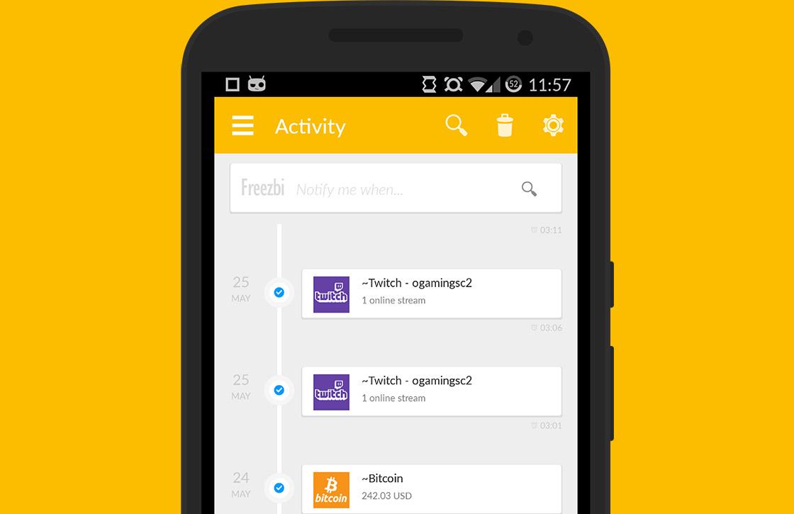 Freezbi: al je gekozen notificaties op één plek
