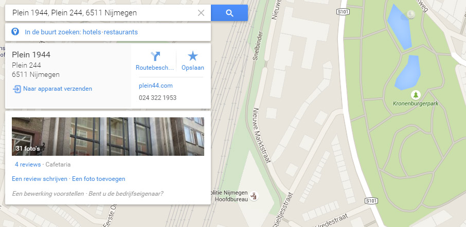 locaties doorsturen google maps