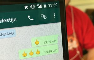 middelvinger-emoji whatsapp android nieuws