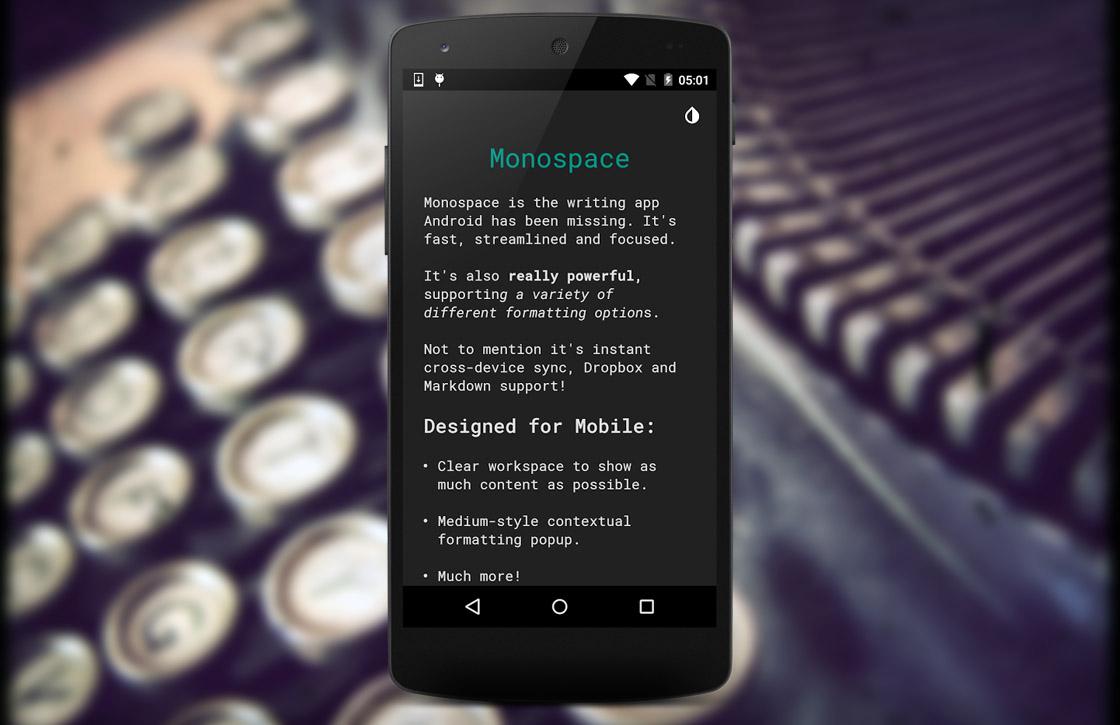 Monospace: minimalistische tekstverwerker van de makers van Today Calendar