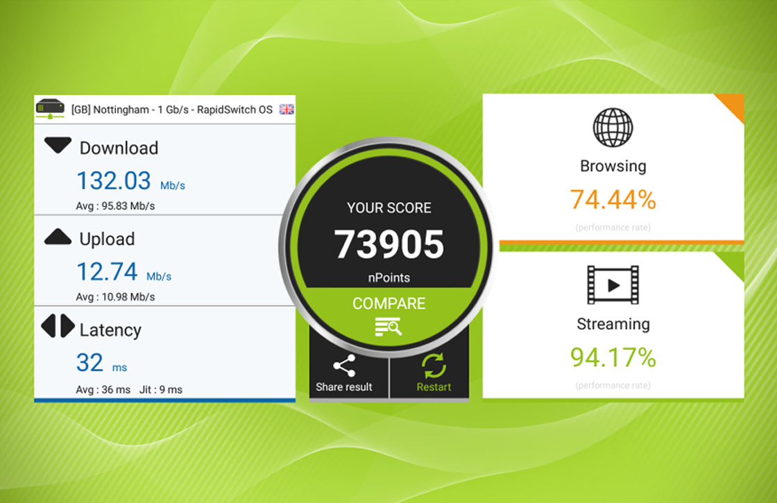 nPerf: krachtige app om je internetsnelheid te meten