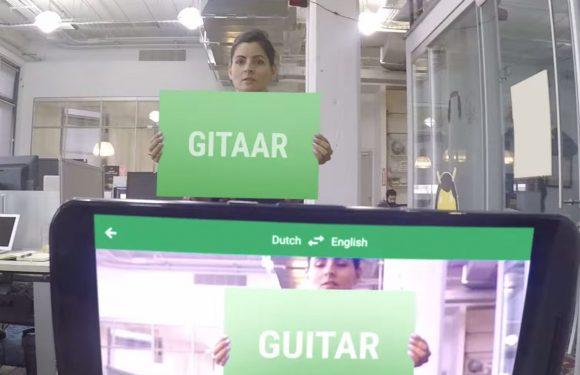 Google Translate vertaalt teksten via camera live naar Nederlands