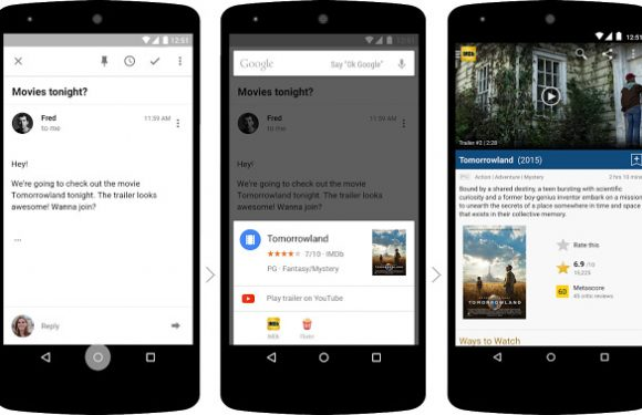 Bètaversie Google-app beschikt over Now on Tap-snelkoppelingen