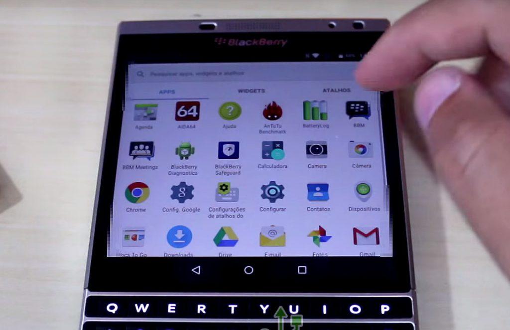 blackberry passport met android
