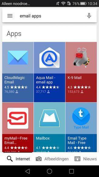 Google app-suggesties