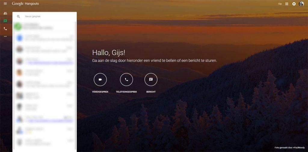 google hangouts webversie