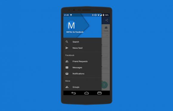 Metal: energiezuinige Facebook-app met Material Design