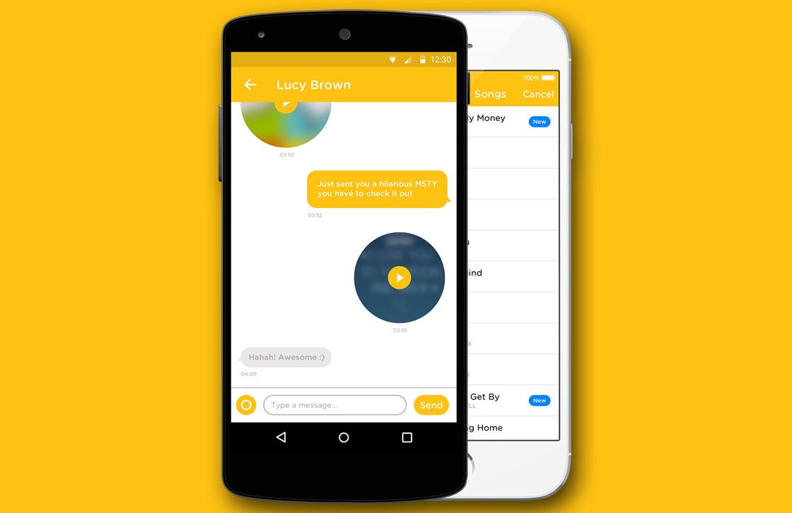 MSTY: Snapchat-concurrent met muziek