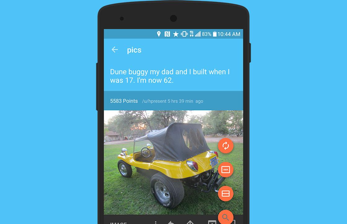 Slide brengt Reddit met Material Design naar je Android