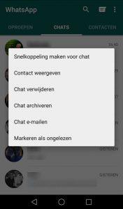 WhatsApp markeer als ongelezen