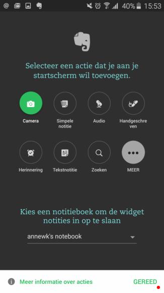 Evernote-widgets