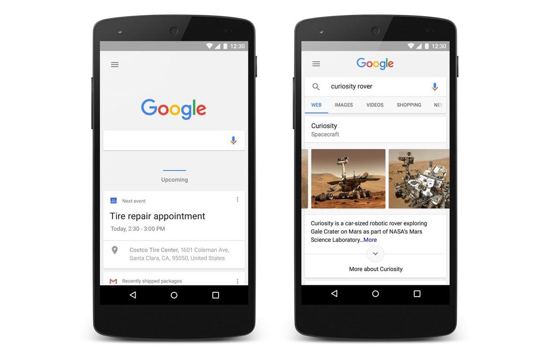 Zo ziet het vernieuwde Google Now eruit