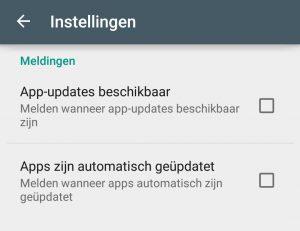 Google Play meldingen