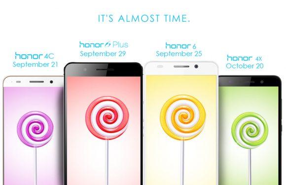 Honor voorziet diverse toestellen van Android Lollipop-update