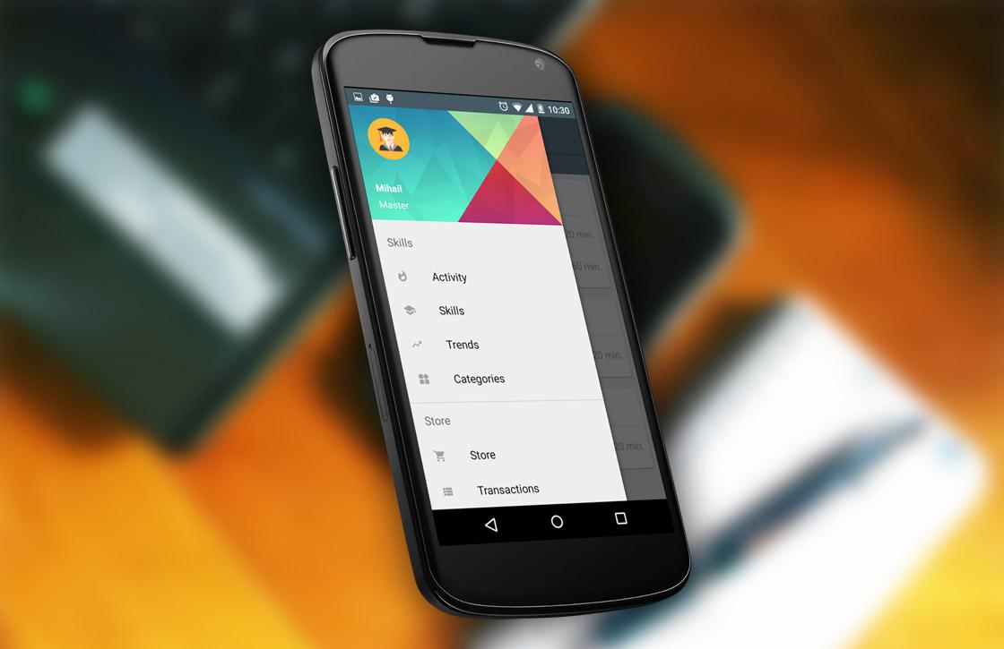 Android-app Mastery helpt je vaardigheden te ontwikkelen