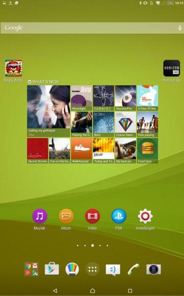 screenshot xperia z4 tablet review