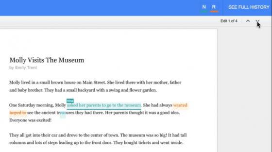 see new changes google docs