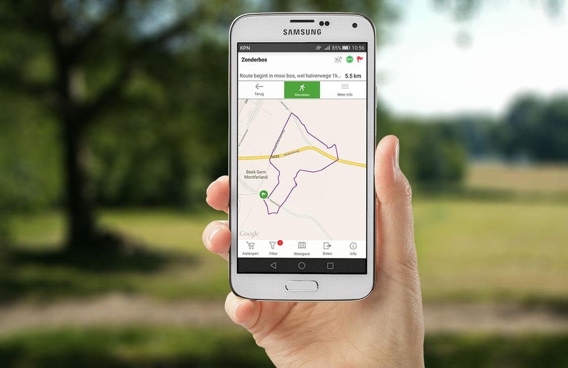 Wandel en ontdek routes met deze vernieuwde Android-app