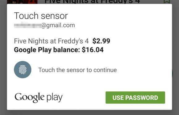 Google Play Store laat je nu betalen met je vingerafdruk