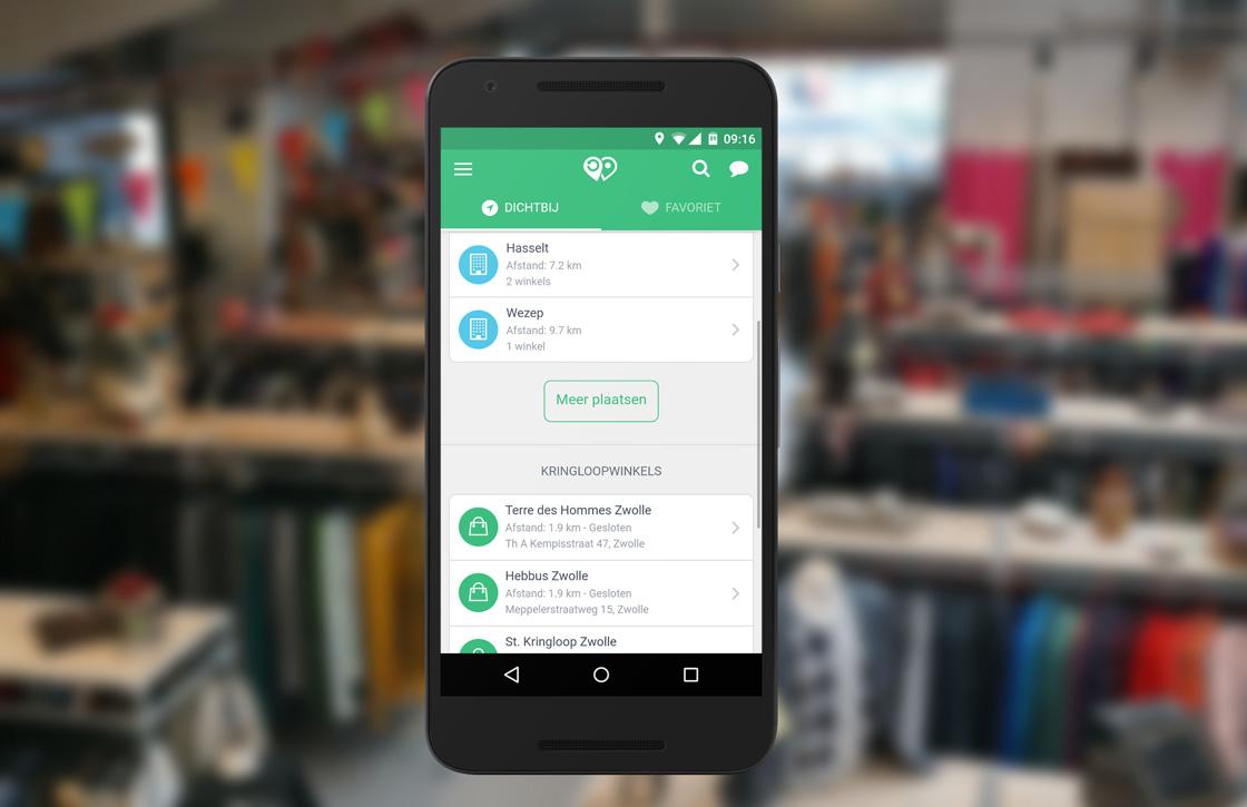 Kringloop App: vind tweedehandswinkels in jouw buurt