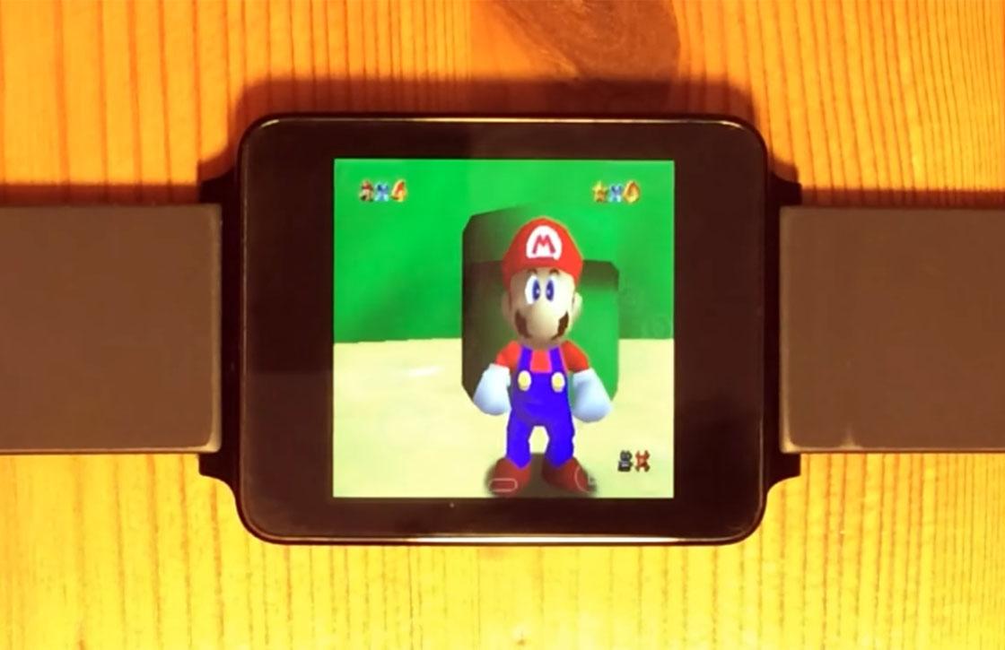 Ontwikkelaar draait klassieke N64-games op een smartwatch