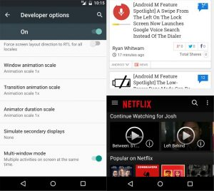multiwindow in Android Marshmallow