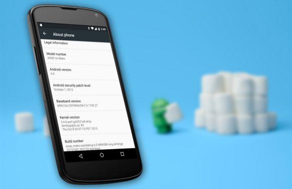 Android 6.0 met een omweg toch beschikbaar voor Nexus 4